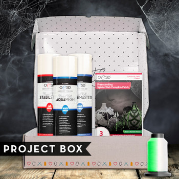Freestanding Spider Web Pumpkin Patch Project Box