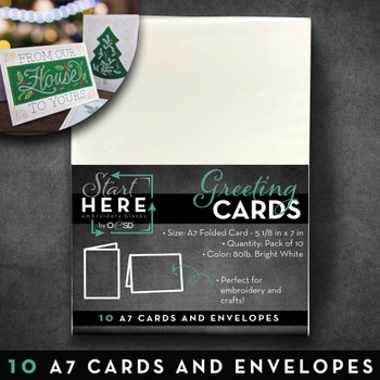 Blank Greeting Cards & Envelopes Size A7 10pk