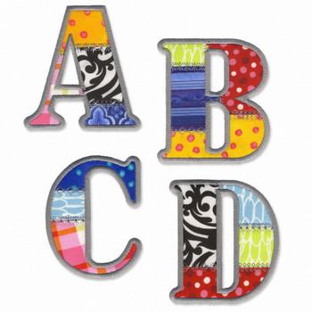 Medley Appliqued Alphabet