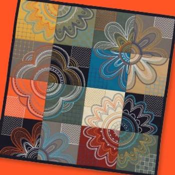 Modern Petals Tiling Scene