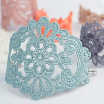 Freestanding Lace Bracelets and Cuffs