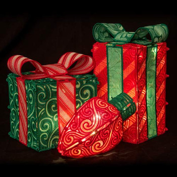Freestanding Holiday Boxes and Bulbs