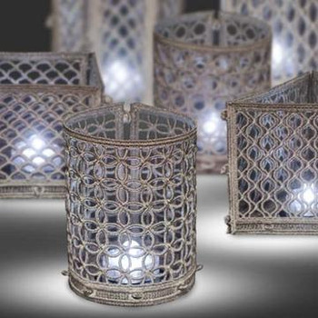 Freestanding Patterned Tea Light Holders