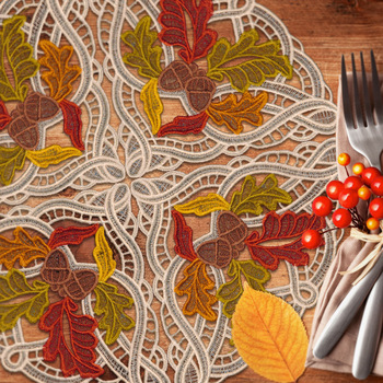 Autumn Buildable Doilies & Napkin Corners