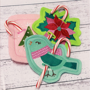 Holiday Candy Cane Holders & Ornaments