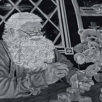 Santa's Workshop Tiling Scene by Dona Gelsinger