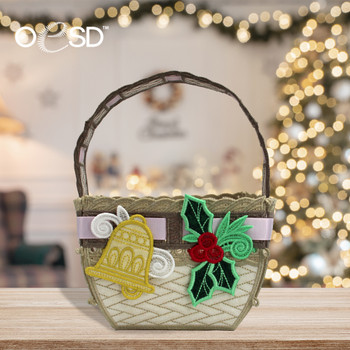 Freestanding Basket for the Holidays