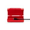 Plug/Cylinder/Forklift Lockout Device, Plastic, Red, Application