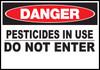 Danger Sign Pesticides In Use
