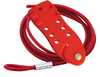 Cable Lockout Device, Red With 6 ft. Cable, 7-Holes