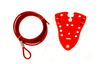 Cable Lockout, Red With 9 ft. Cable 7-Hole