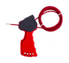 Cable Lockout, Red,Grip Type,6 ft. Cable