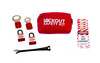 Lockout Tagout Kit with two haps and two lockout padlocks.