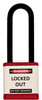 """Lockout Padlock, Red, Keyed Different, 3"""" shackle"""