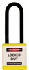 """Lockout Padlock, Yellow, Keyed Different, 3"""" shackle"""