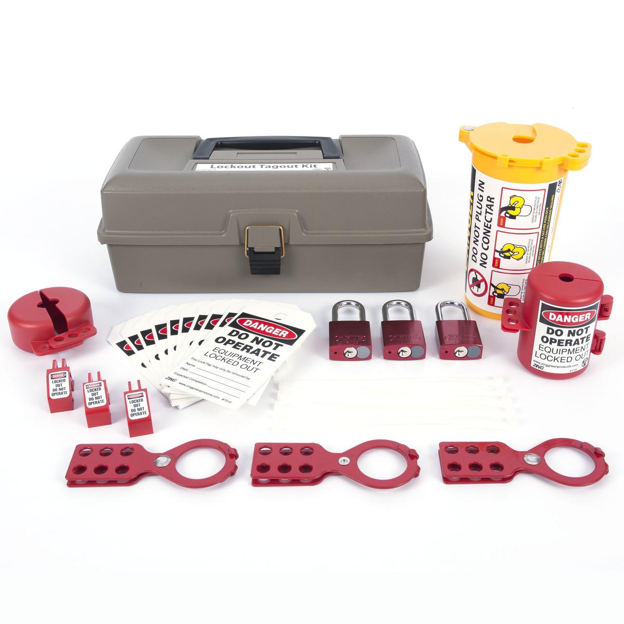 Lockout Tagout Box, 32 Component