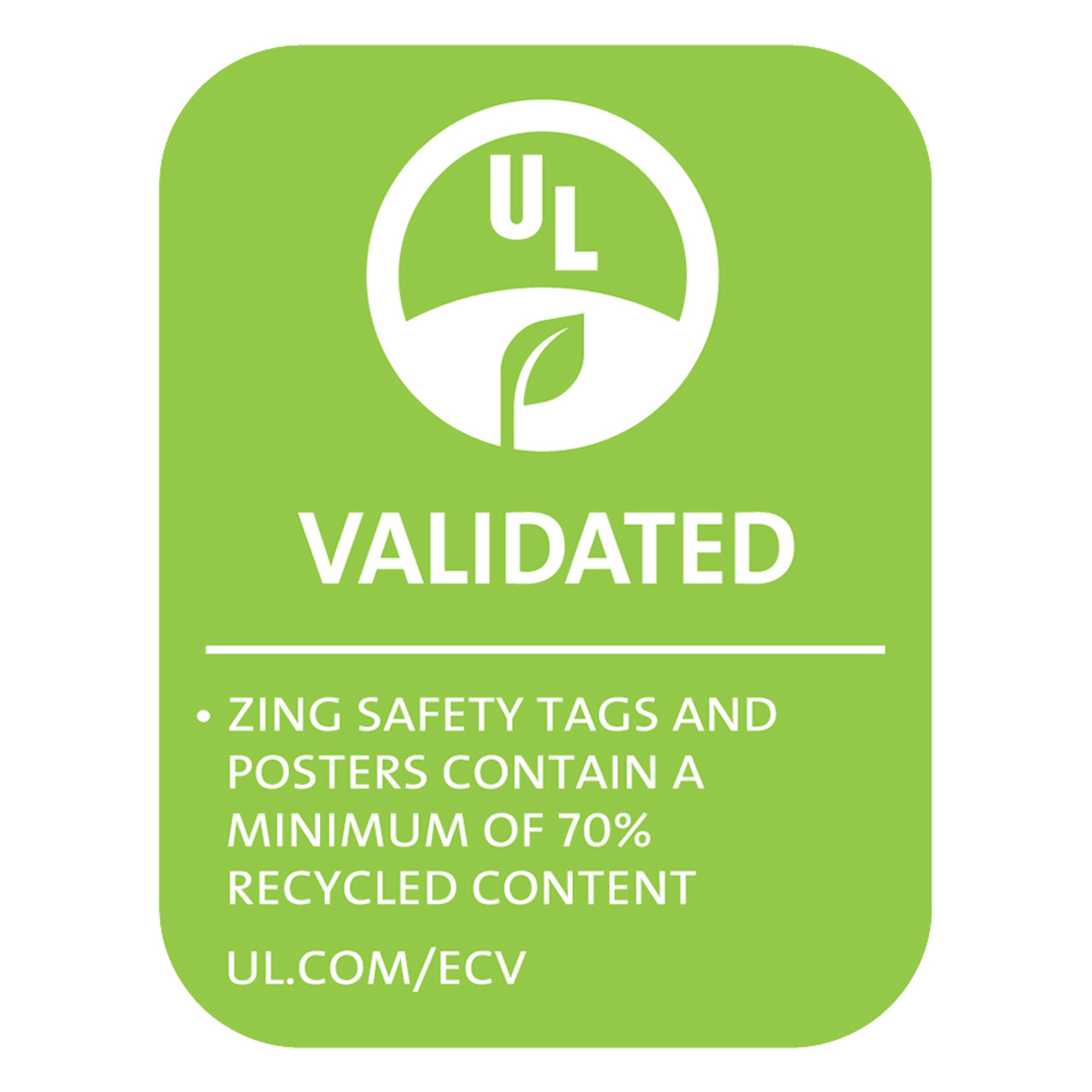 Eco Safety Tag, 10/Pack