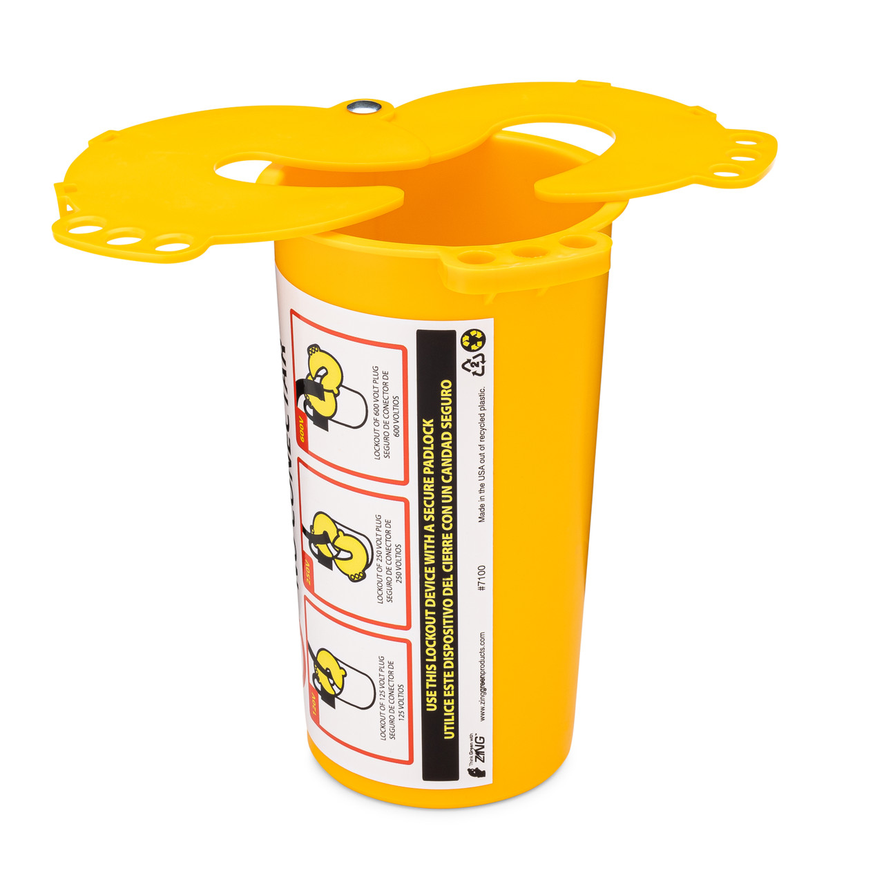 ZING 7100 RecycLockout Lockout Tagout, Large Plug Lockout, Recycled Plastic