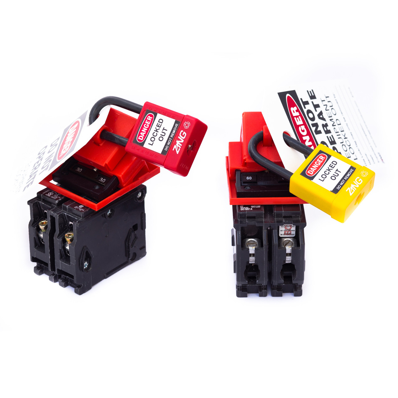 480/600V Clamp-On Breaker Lockout-cleat