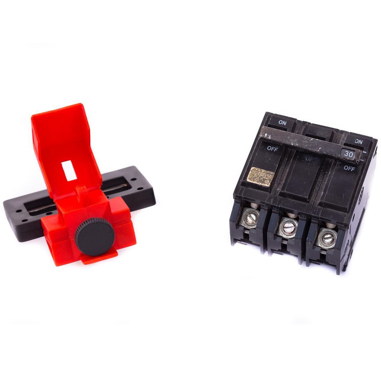 480/600V Breaker Lockout, 2 1/4 x 7/8 IN
