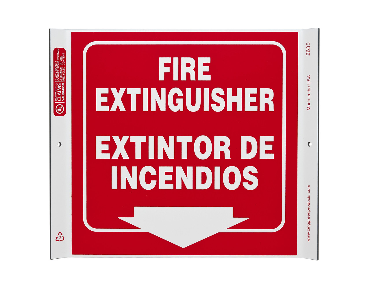 Eco Safety Corner Sign, 10X10
