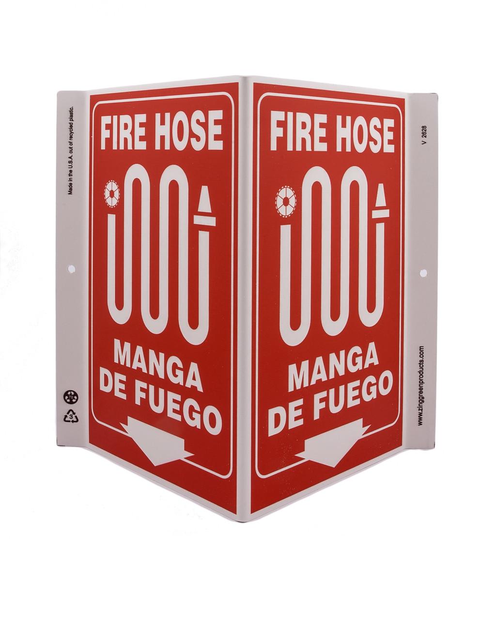 ZING Eco Safety V Sign, 11X10.6