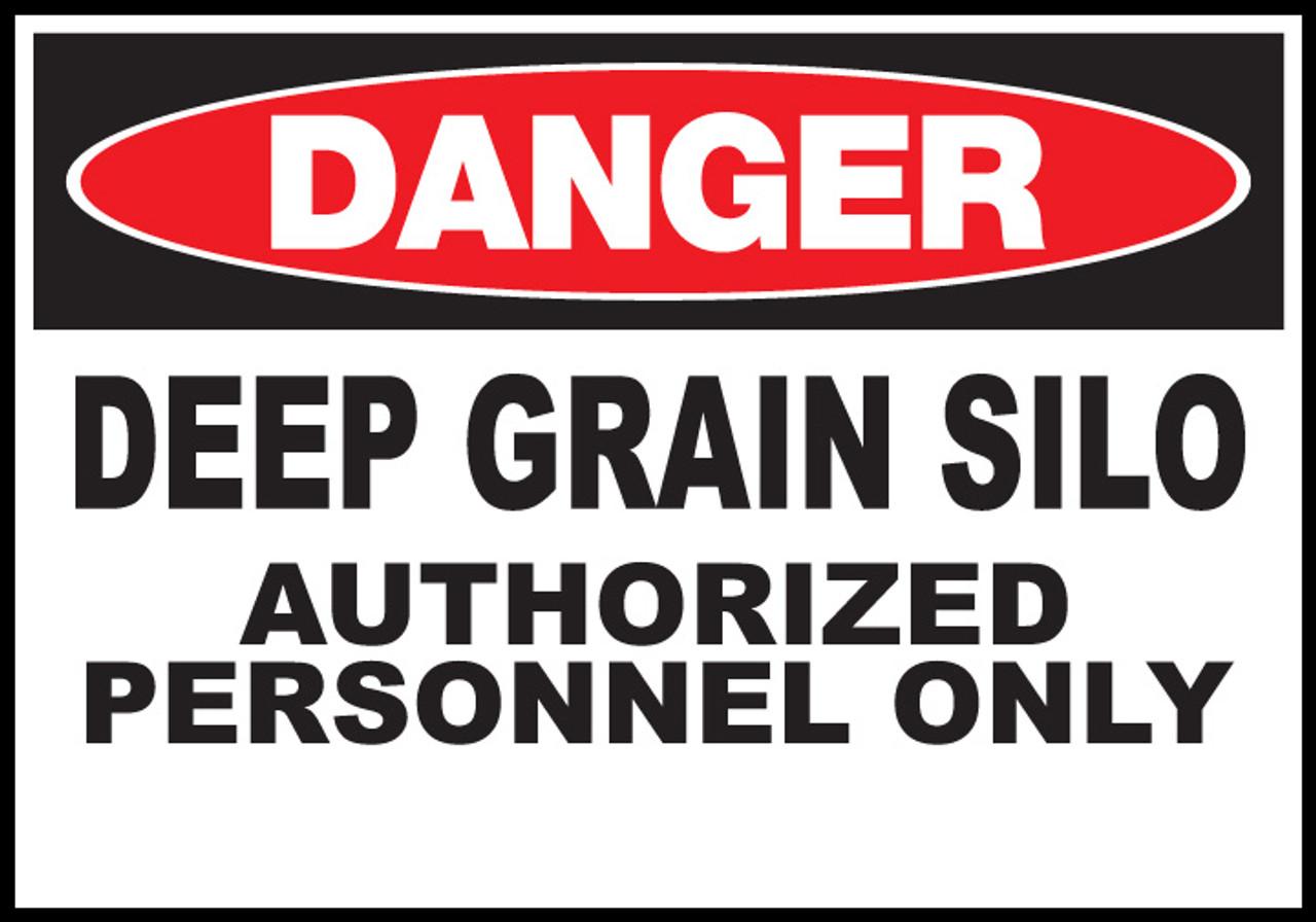 Danger Sign  Deep Grain Silo