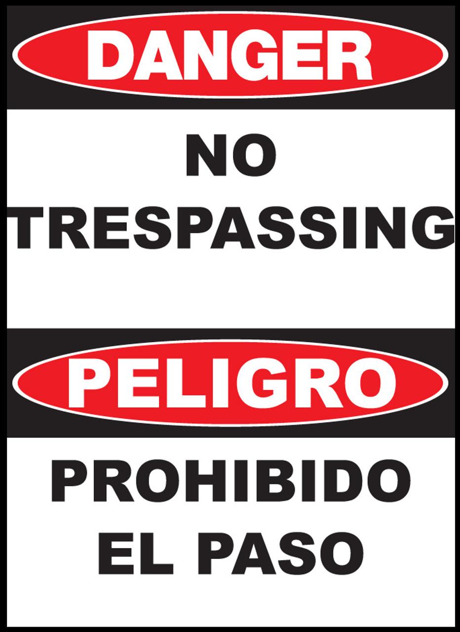 Danger No Trespassing Sign