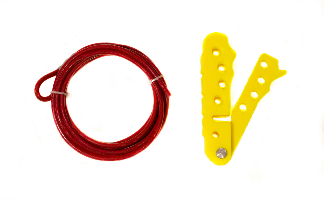 Cable Lockout,Yellow 6 ft.Cable, 4-Hole Scissor Style