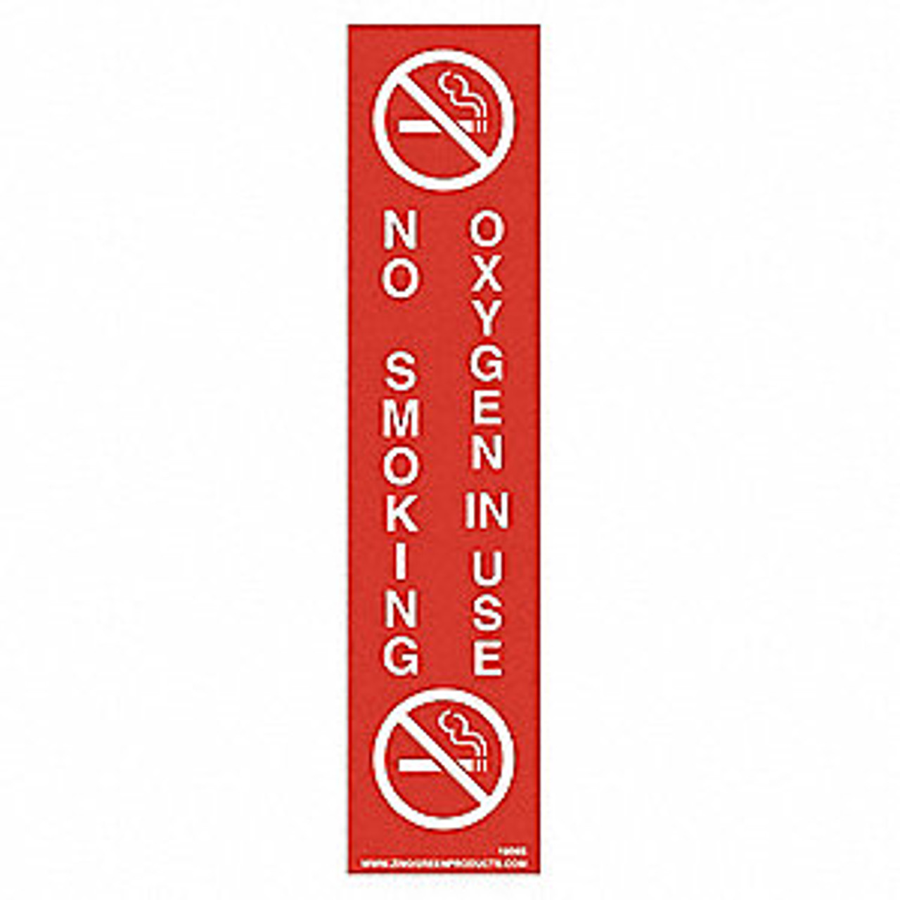 """Sign, No Smoking Oxygen In Use, 9 x 2"""", Adhesive"""