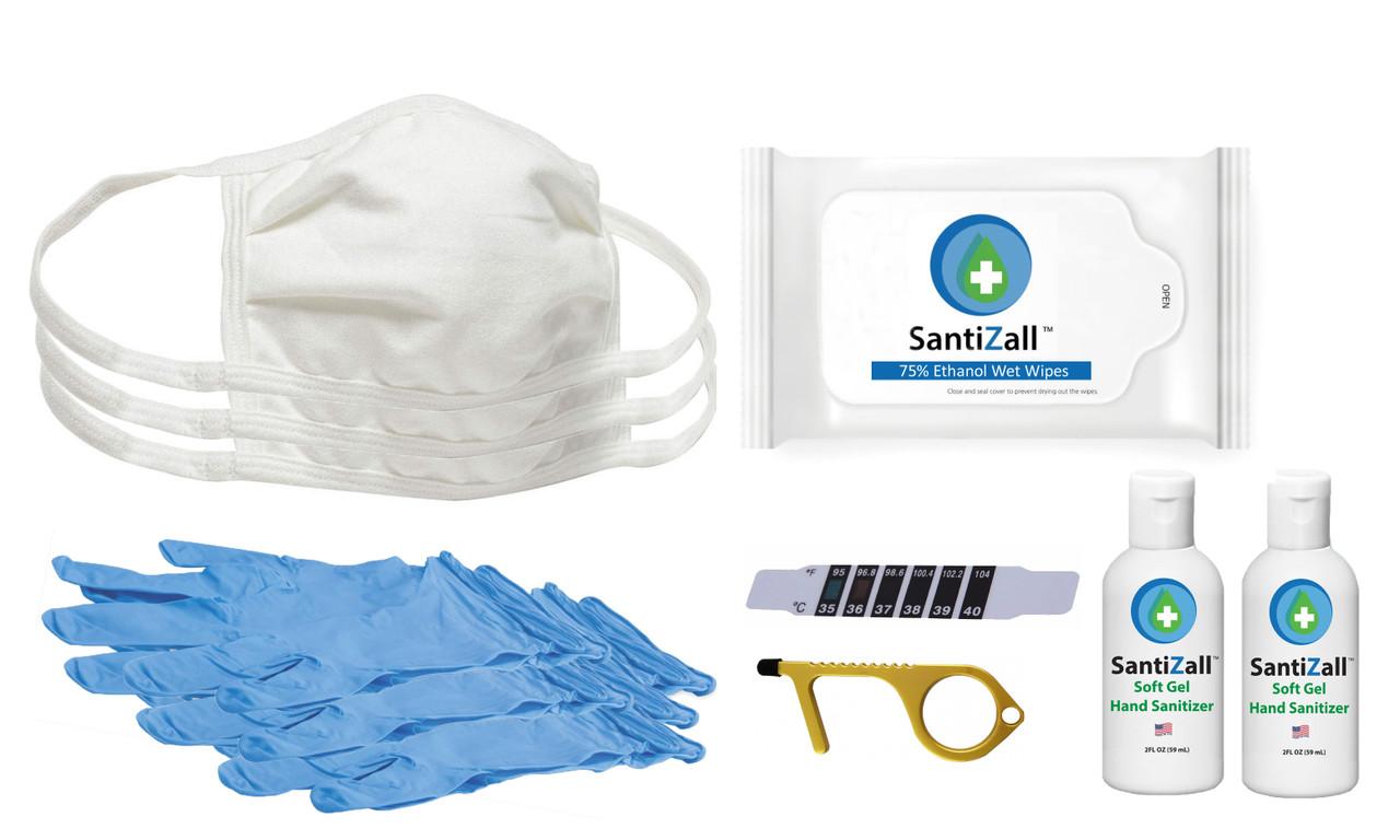 Flu Safety Kit with Gloves.