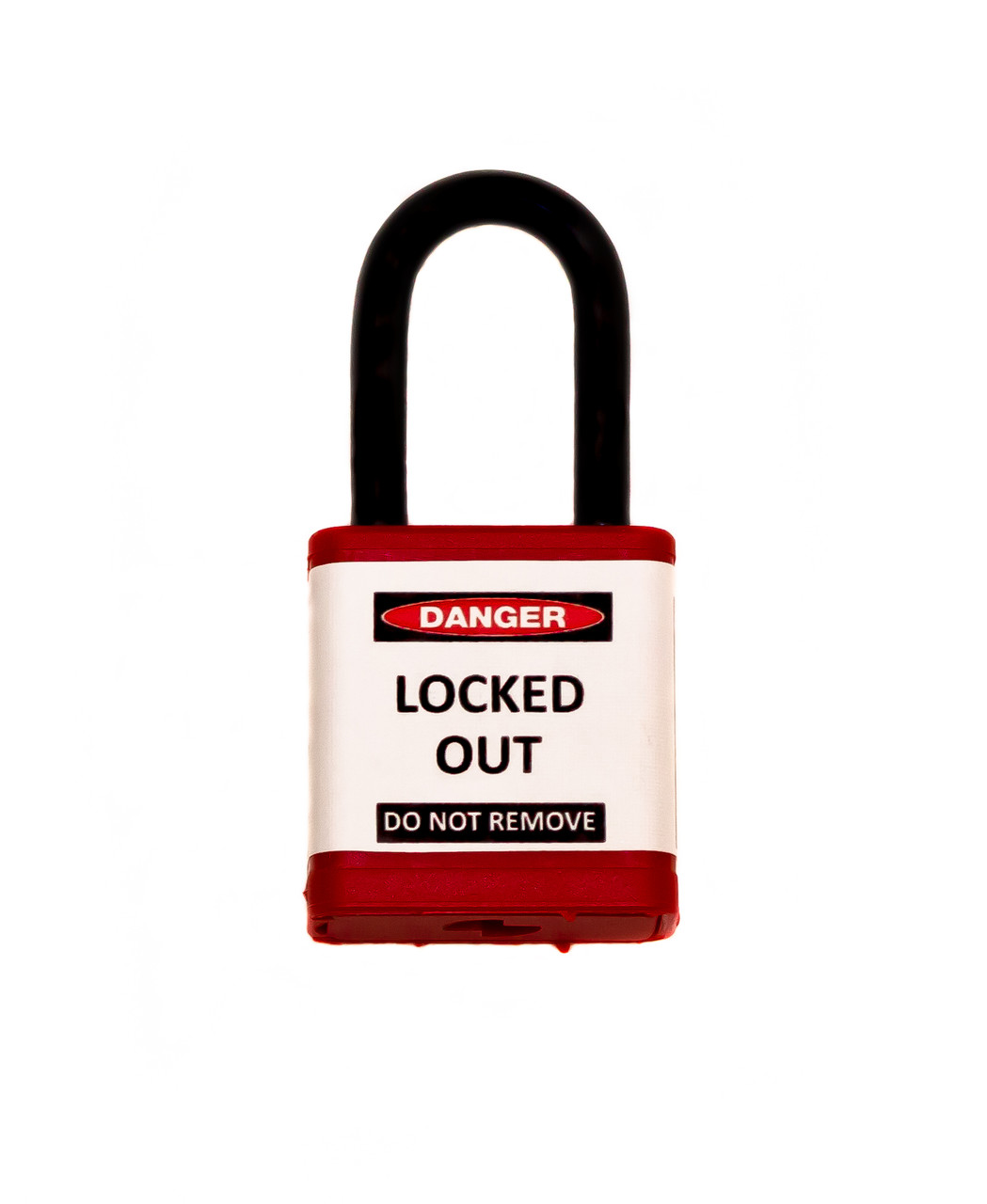 """Lockout Padlock, Red, Keyed Different, 1.5"""" shackle"""
