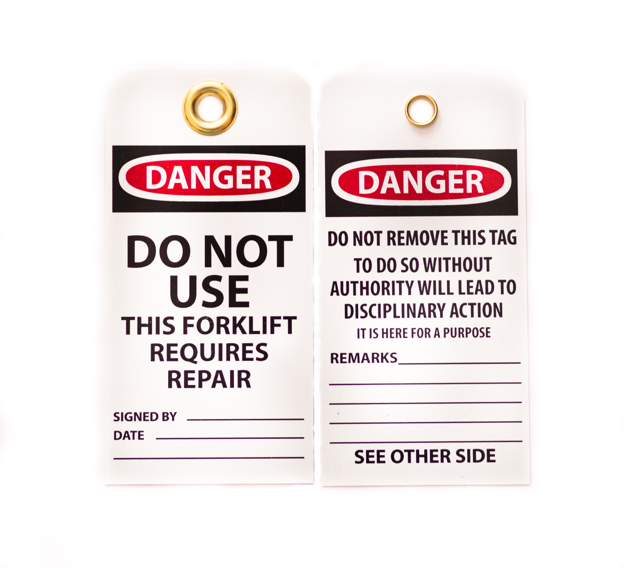 Danger Do Not Use Forklift Lockout Tags