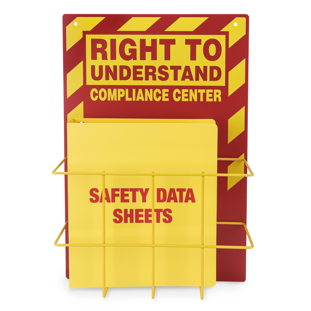Right to Understand Binder and Rack GHS HAzcom Station, Yellow and Red
