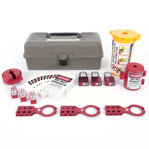 Lockout Tagout Box, 32 Component