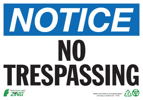 NOTICE No Trespassing