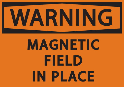 WARNING MAGNETIC FIELD IN PLACE