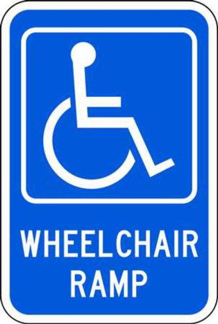 Handicapped Symbol Wheel Chair Ramp
