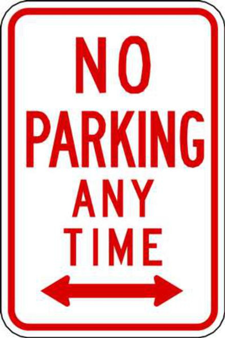 No Parking Anytime Double Arrow