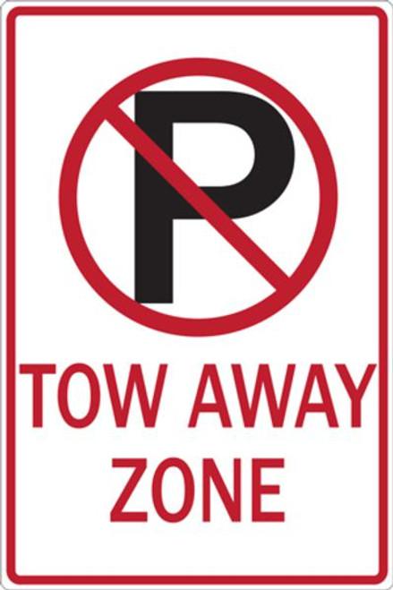 No Parking Symbol Tow Away Zone