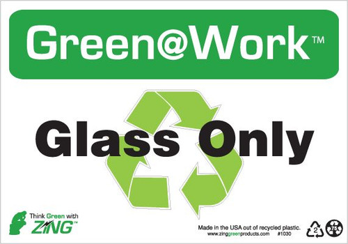 Glass Only, Recycle Symbol
