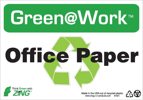 Office Paper, Recycle Symbol