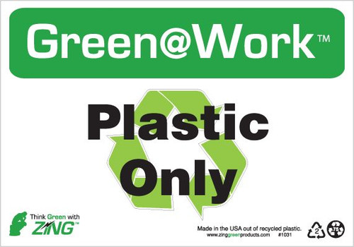 Plastic Only, Recycle Symbol