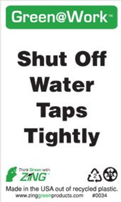 Shut Off Water Taps Tightly