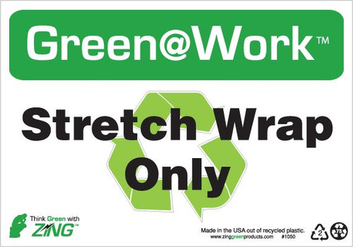 Stretch Wrap Only, Recycle Symbol
