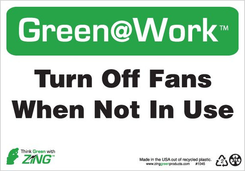 Turn Off Fans When Not In Use