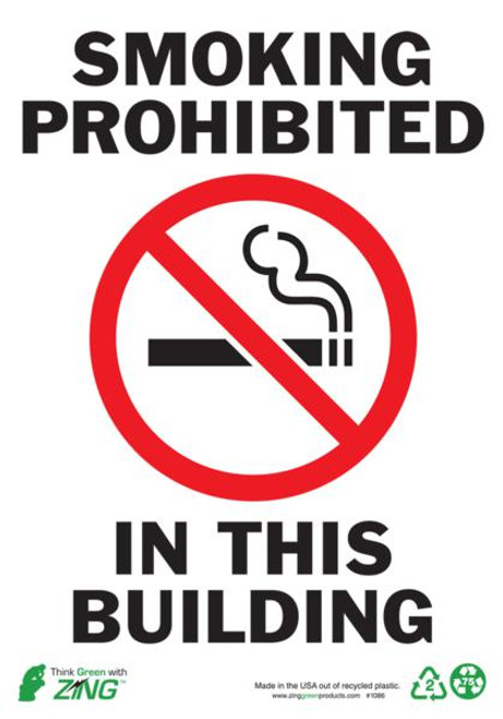 Smoking Prohibited In This Building