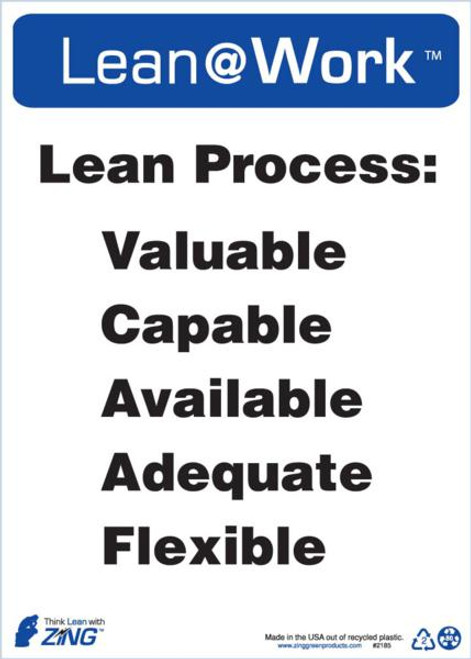 Lean At Work Sign, 14x10