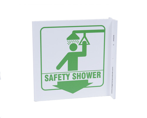 ZING 2529 Eco Safety L Sign, Safety Shower, 7Hx2.5Wx7D, Recycled Plastic