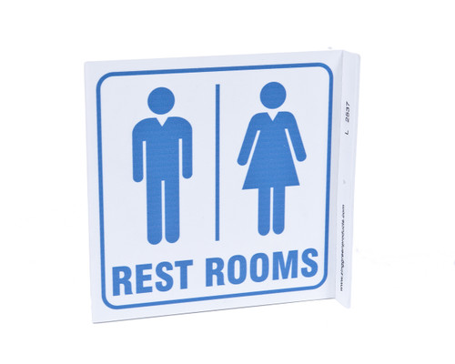 Restrooms Projecting Sign